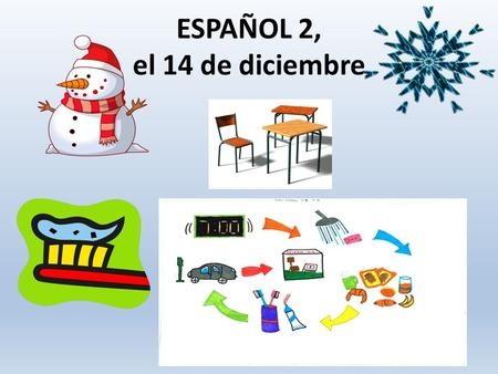 ESPAÑOL 2, el 14 de diciembre. Proyecto de Cultura: Participación REMINDER: SWIFT WEBSITE (guidelines) Turn in by the end of the SEMESTER.