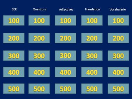 SERQuestions VocabularioAdjectives Translation. Yo ____ un alumno bueno.
