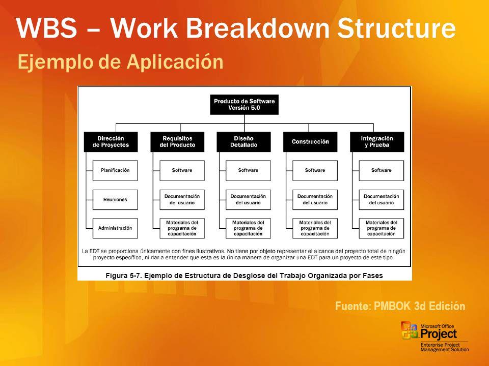RBS – Risk Breakdown Structure Fuente: PMBOK 3d Edición Ejemplo de Aplicación