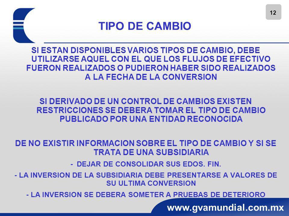 13 www.gvamundial.com.mx TRANSACCIONES EN MONEDA EXTRANJERA INCLUYE AQUELLAS EN LAS QUE LA ENTIDAD: -COMPRA O VENDE BIENES O SERVICIOS CUYO PRECIO SE DENOMINA EN MONEDA EXTRANJERA -PRESTA O TAMA PRESTADOS FONDOS, ADQUIERE O DISPONE DE ACTIVOS, INCURRE, TRANSFIERE O LIQUIDA PASIVOS, SI LOS IMPORTES CORRESPONDIENTES SE ESTABLECEN A COBRAR O PAGAR EN UNA MONEDA EXTRANJERA
