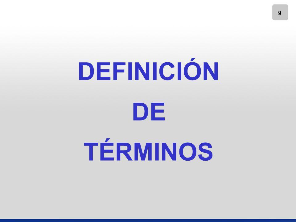 10 www.gvamundial.com.mx DEFINICIÓN DE TÉRMINOS ENTIDAD INFORMANTE: EMISORA DE LOS EDOS.