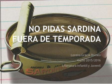 no pidas sardinas fuera de temporada pdf