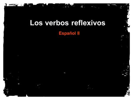 "Los verbos reflexivos Español II. What is a reflexive verb? A subject doing something to itself In English: ""I shave myself"" or ""I wash myself."" Typically,"