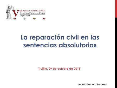 La reparación civil en las sentencias absolutorias
