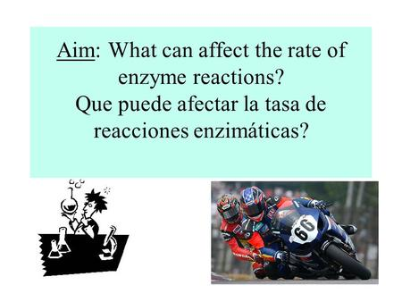 Aim: What can affect the rate of enzyme reactions? Que puede afectar la tasa de reacciones enzimáticas?