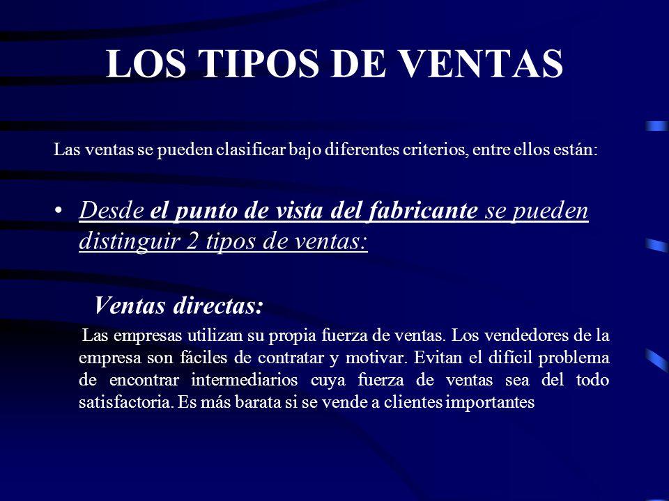 VENTAS INDIRECTAS: Se utiliza a los empleados de los mediadores.