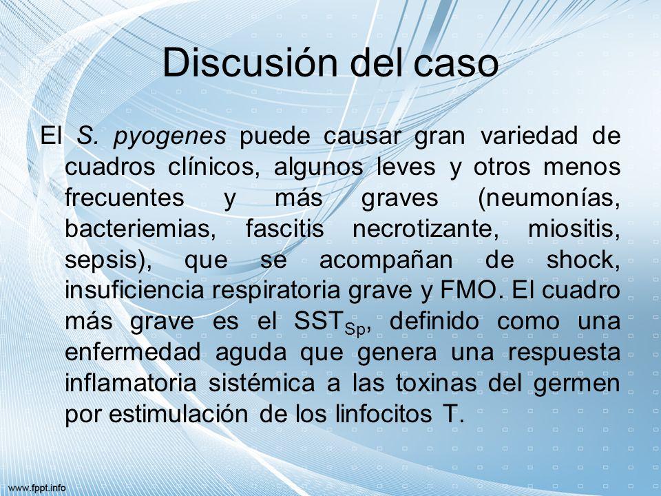 Discusión del caso.La gravedad de las infecciones invasivas por el S.