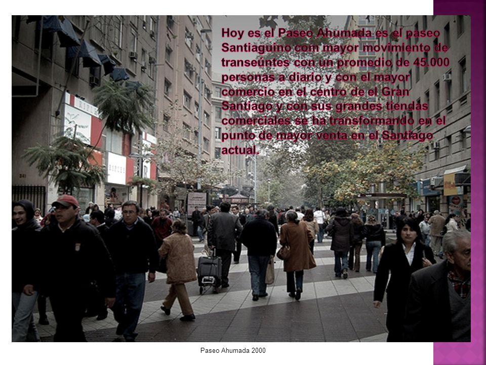 Paseo Ahumada 1880 Este proyecto esta pensado como microprograma de las calles con historia en nuestro Chile querido recorriendo desde el Norte y terminando en el extremo Sur donde las grandes ciudades de chile tienen mas de alguna calle con una historia que contar y por la cual lleva el nombre.