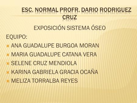 esc. Normal profr. Dario rodriguez cruz