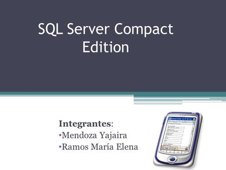 SQL Server Compact Edition