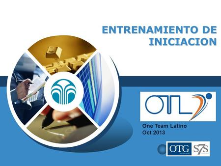 LOGO ENTRENAMIENTO DE INICIACION One Team Latino Oct 2013.
