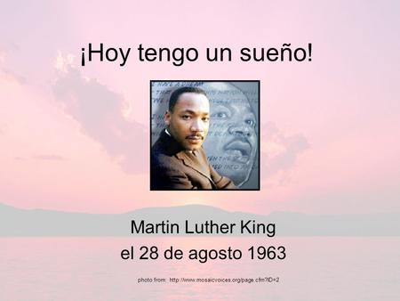 Martin Luther King el 28 de agosto 1963