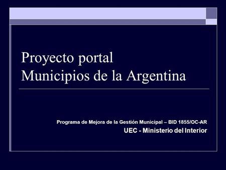 Plan de gobernabilidad ppt descargar for Intranet ministerio del interior