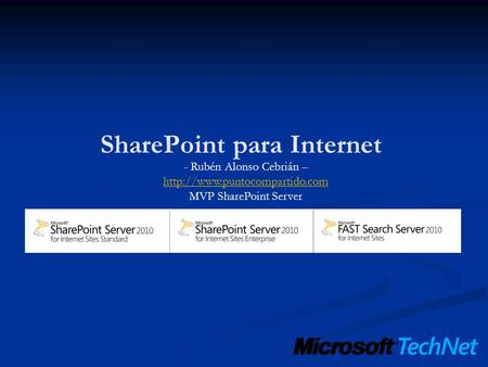 - Rubén Alonso Cebrián –  MVP SharePoint Server