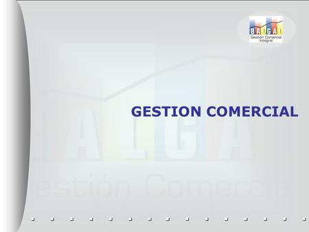 GESTION COMERCIAL.