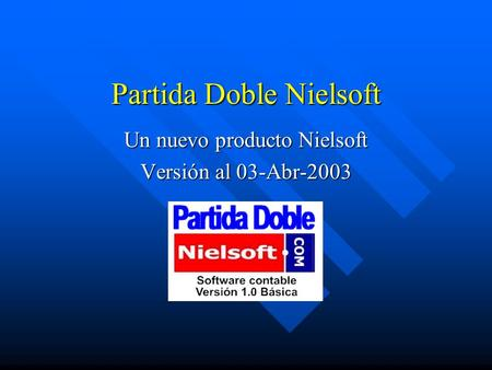 Partida Doble Nielsoft