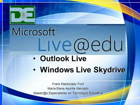 Outlook Live Windows Live Skydrive Frank Maldonado Font