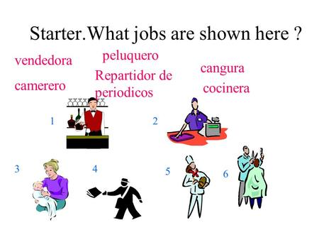 Starter.What jobs are shown here ?