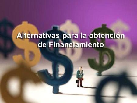 Alternativas para la obtención de Financiamiento.