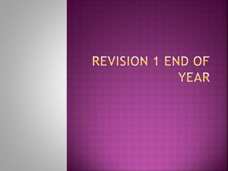 REVISION 1 END OF YEAR.