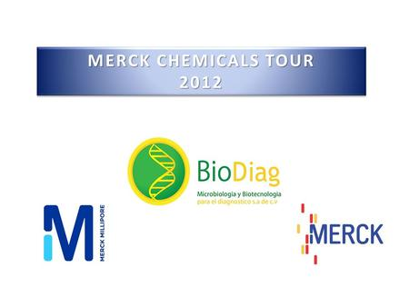 MERCK CHEMICALS TOUR 2012.