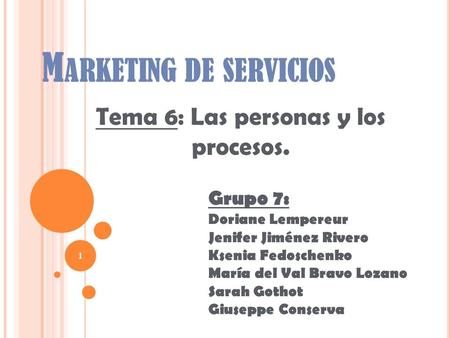 Marketing de servicios