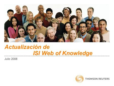 Actualización de ISI Web of Knowledge Julio 2008.