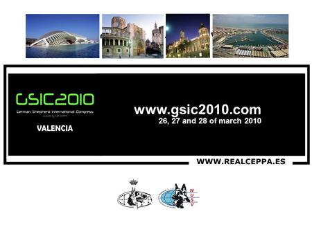 8, 9 y 10 de Octubre 26, 27 and 28 of march 2010 www.gsic2010.com Discover an exciting world. See you in Valencia !