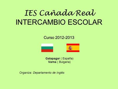 IES Cañada Real INTERCAMBIO ESCOLAR Curso