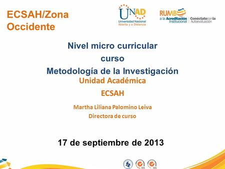 ECSAH/Zona Occidente Nivel micro curricular curso