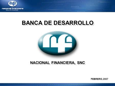 NACIONAL FINANCIERA, SNC
