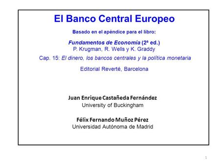 El Banco Central Europeo