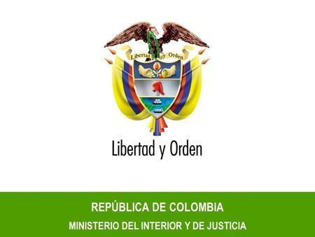 Herramientas para la planeaci n territorial ppt descargar for Ministerio del interior colombia