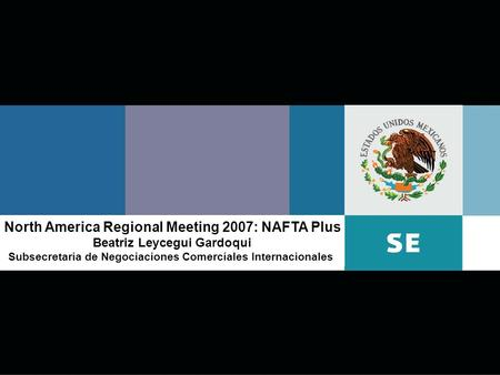 North America Regional Meeting 2007: NAFTA Plus