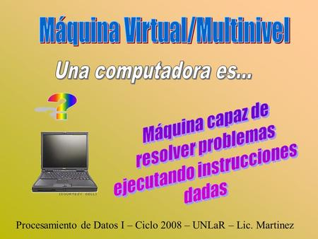 Máquina Virtual/Multinivel