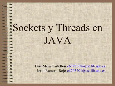 Sockets y Threads en JAVA