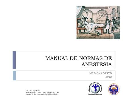 Manual de normas y procedimientos en anestesia latest for Manual de funciones y procedimientos de un restaurante
