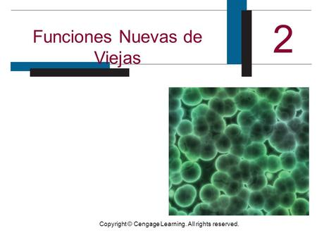Copyright © Cengage Learning. All rights reserved. Funciones Nuevas de Viejas 2.