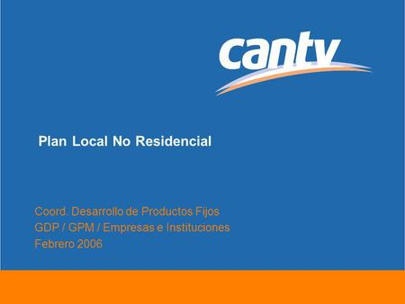 Plan Local No Residencial
