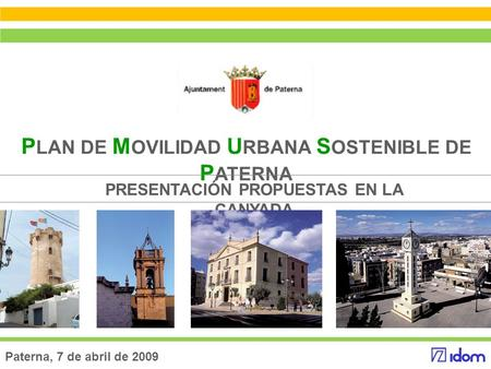 PLAN DE MOVILIDAD URBANA SOSTENIBLE DE PATERNA