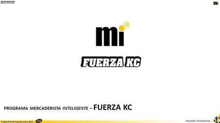 Trade Marketing Solutions SAC Fuerza KC, ficha técnica PROGRAMA MERCADERISTA INTELIGENTE – FUERZA KC.