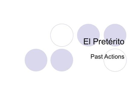 El Pretérito Past Actions. Apuntes: el 27 de noviembre Timeline of verbs How many different ways can you say To wear for I in English? Write them all.