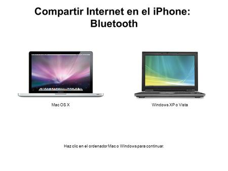 Compartir Internet en el iPhone: Bluetooth