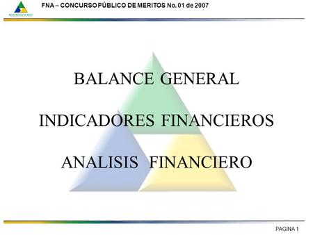 BALANCE GENERAL INDICADORES FINANCIEROS ANALISIS FINANCIERO