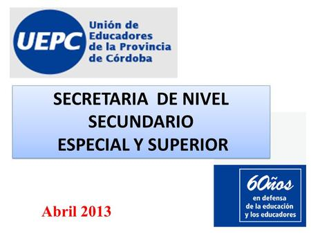 SECRETARIA DE NIVEL SECUNDARIO
