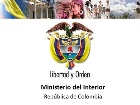 Ministerio de minas y energ a rep blica de colombia for Ministerio del interior direccion y telefono