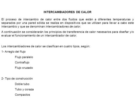 INTERCAMBIADORES DE CALOR