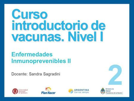 Curso introductorio de vacunas. Nivel I