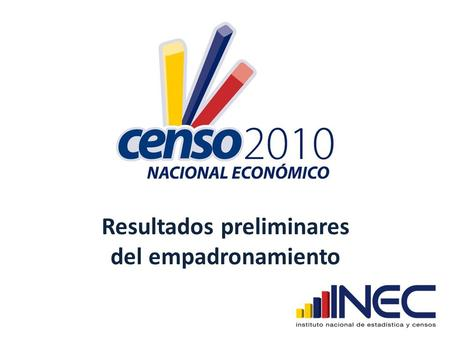 instituto nacional de estadisticas y censos ecuador:
