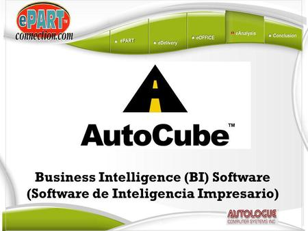 Business Intelligence (BI) Software (Software de Inteligencia Impresario)